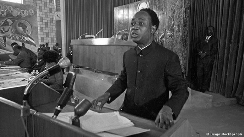 Kwame Nkrumah speaking at O.A.U. meeting
